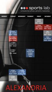2018 Pilates Timetable Alexandria
