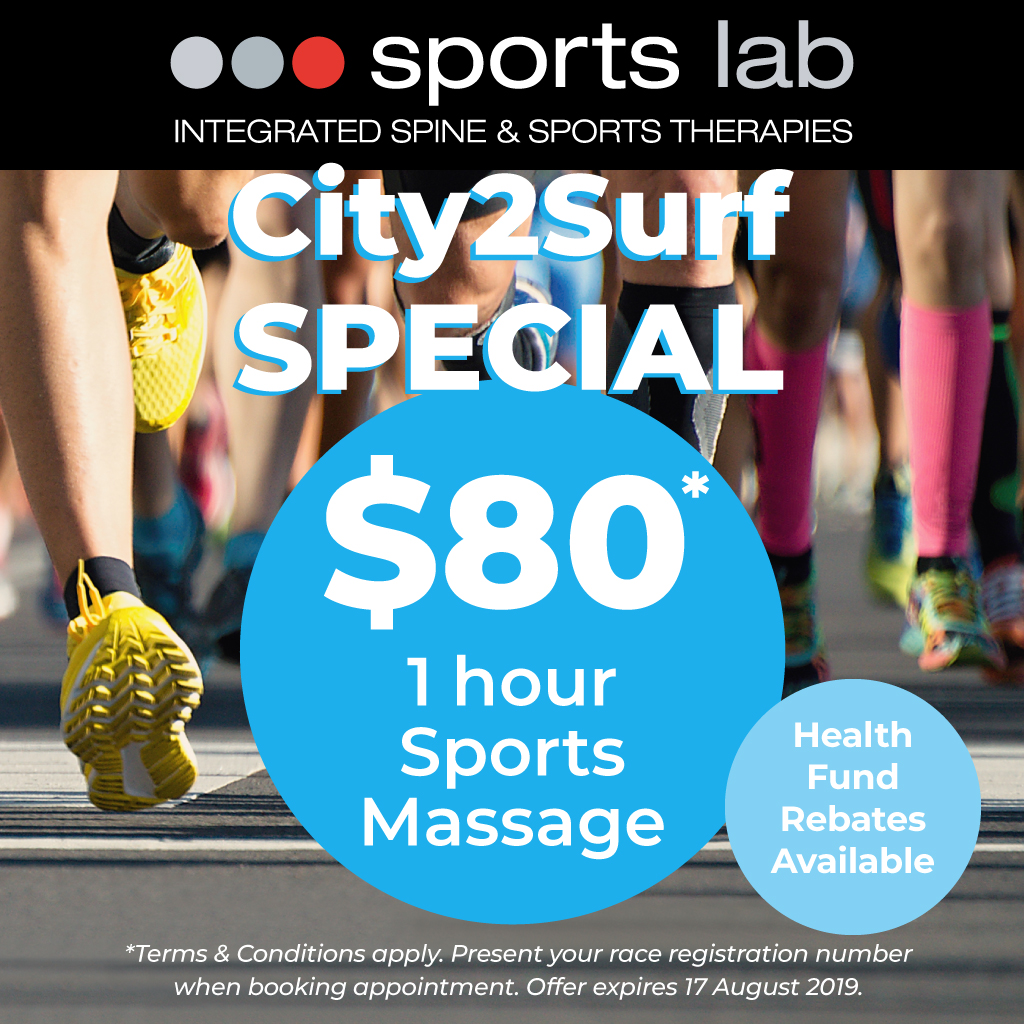 City2Surf Special Offer - 1 hour massage $80