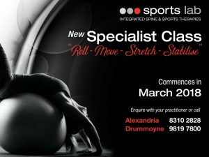 New Specialist Class - Roll, Move, Stretch, Stabilise