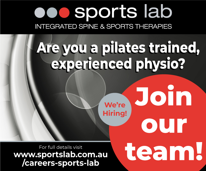 Job Position available: pilates physiotherapist